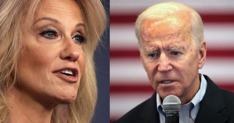 """Kellyanne Conway Accuses Biden Of Shameless Misquote – """"You Lied. And Don't Sniff My Hair, Either"""""""