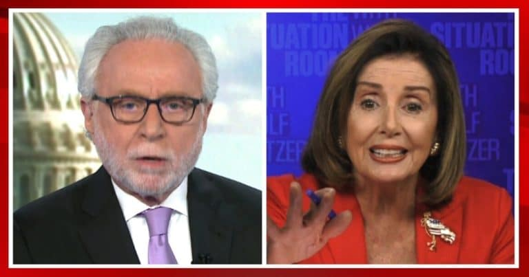 Nancy Pelosi Turns On CNN, Loses It On Live TV – She Bickers With Wolf Blitzer Over Trump Deal